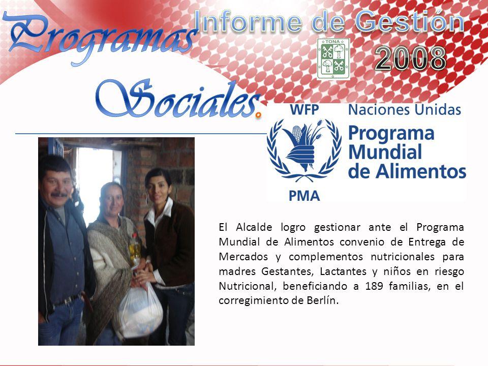 Programas Sociales. Informe de Gestión 2008