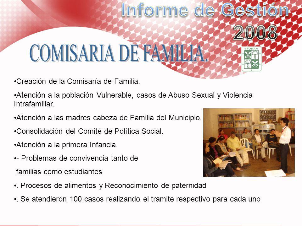 Informe de Gestión 2008 COMISARIA DE FAMILIA.
