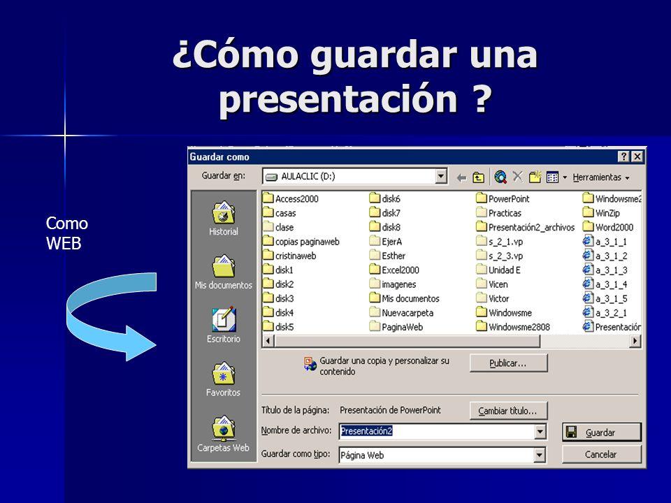 ¿Cómo guardar una presentación