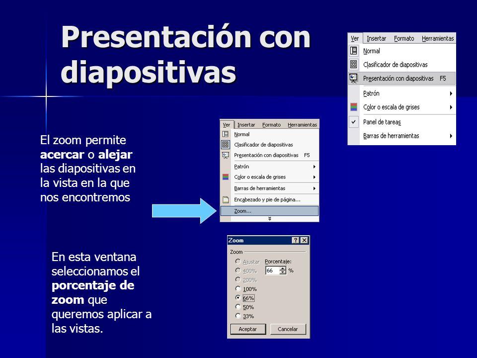 Presentación con diapositivas