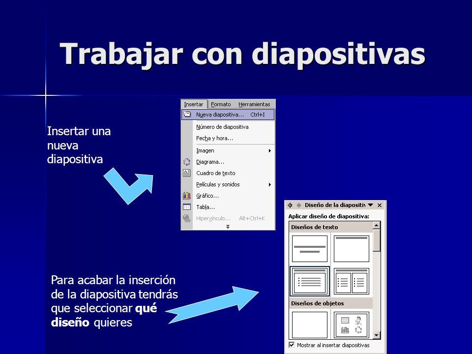 Trabajar con diapositivas