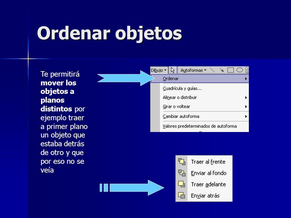 Ordenar objetos
