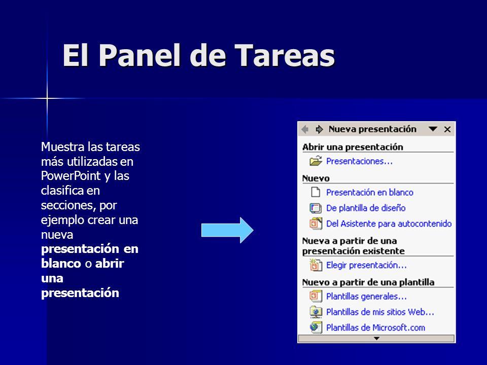El Panel de Tareas