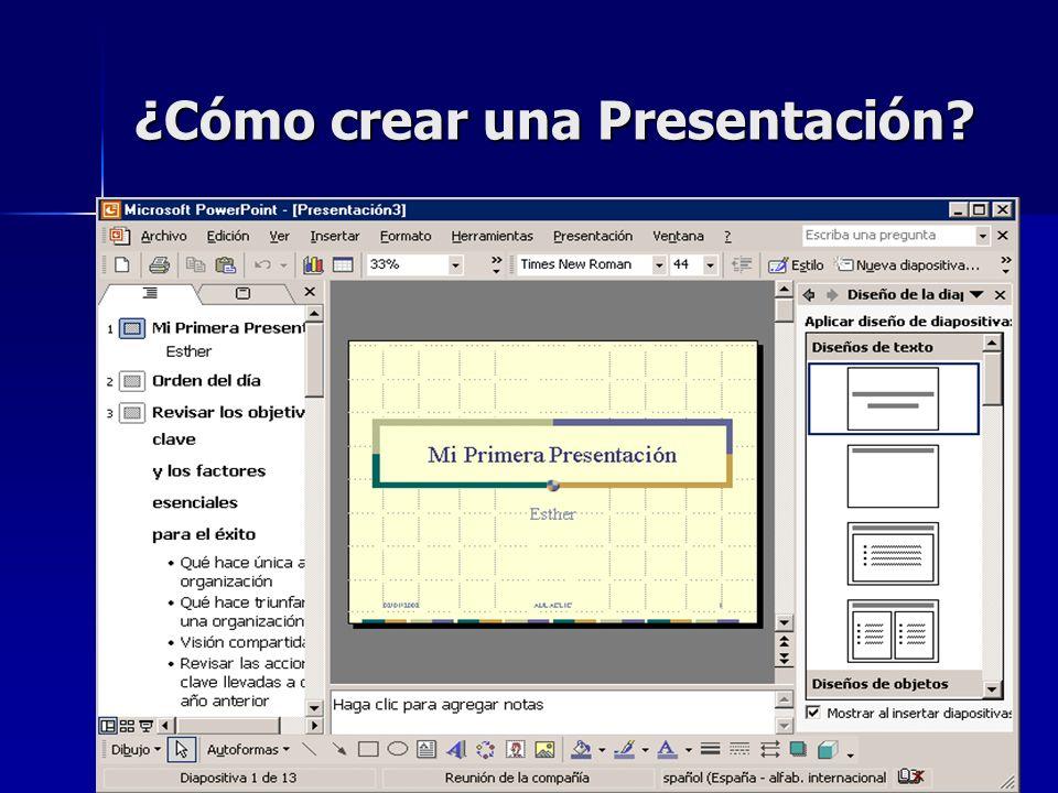 ¿Cómo crear una Presentación