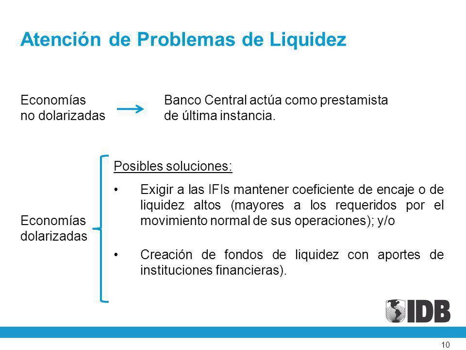 Atención de Problemas de Liquidez
