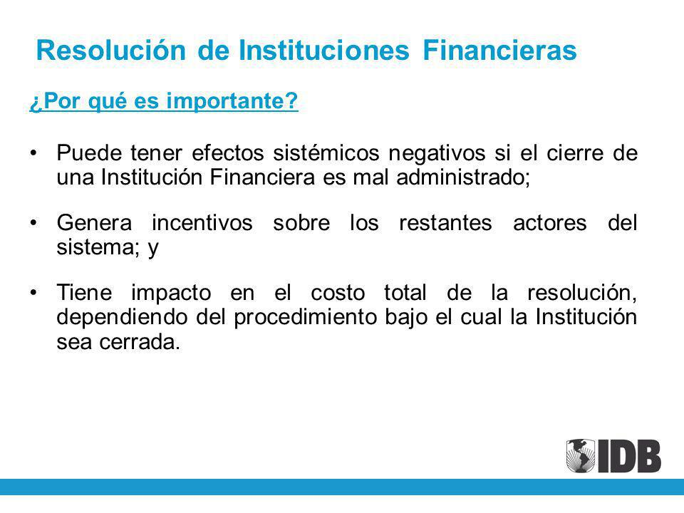 Resolución de Instituciones Financieras