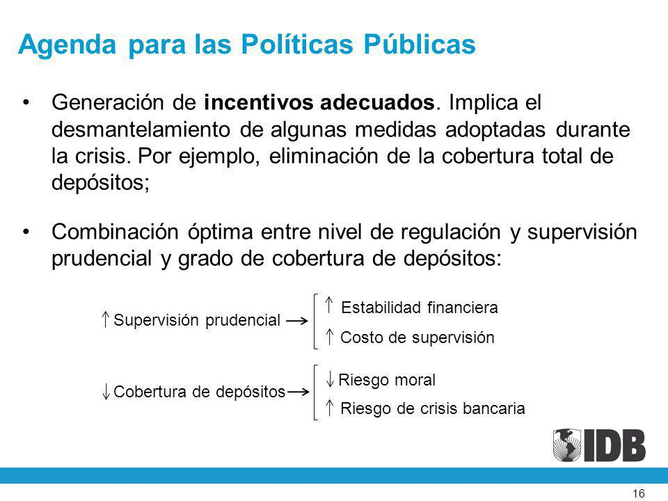 Agenda para las Políticas Públicas