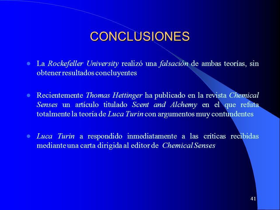 CONCLUSIONES La Rockefeller University realizó una falsación de ambas teorías, sin obtener resultados concluyentes.