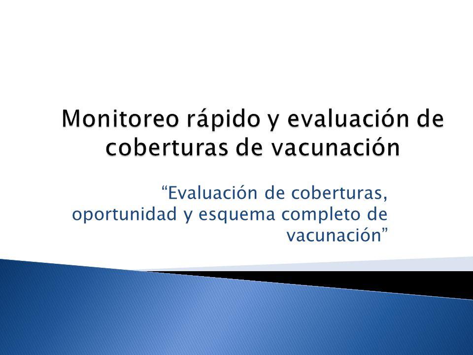Monitoreo rápido y evaluación de coberturas de vacunación