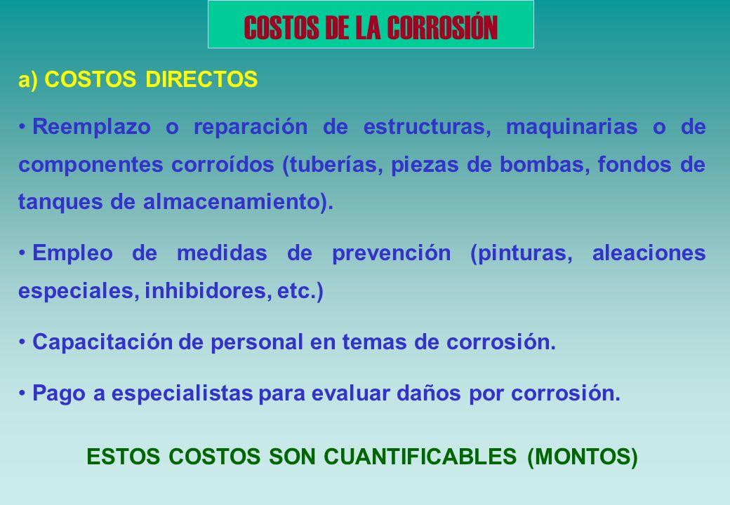 ESTOS COSTOS SON CUANTIFICABLES (MONTOS)