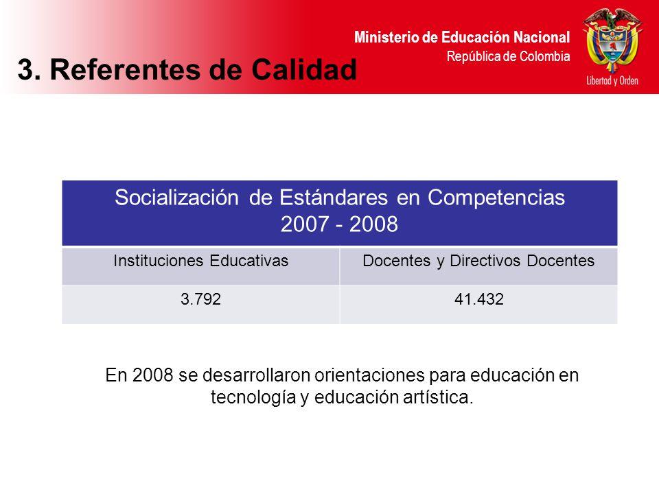 3. Referentes de Calidad Socialización de Estándares en Competencias
