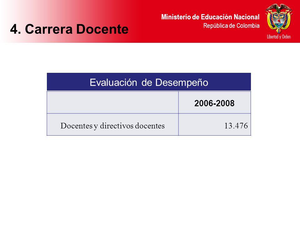 4. Carrera Docente Evaluación de Desempeño 2006-2008 13.476