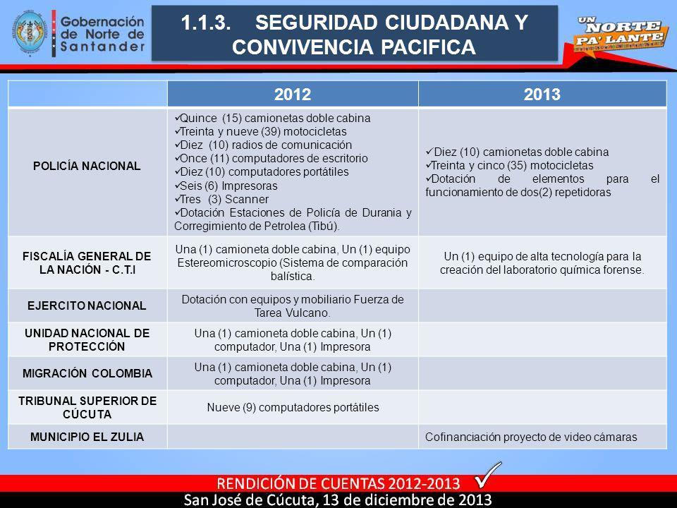 1.1.3. SEGURIDAD CIUDADANA Y CONVIVENCIA PACIFICA