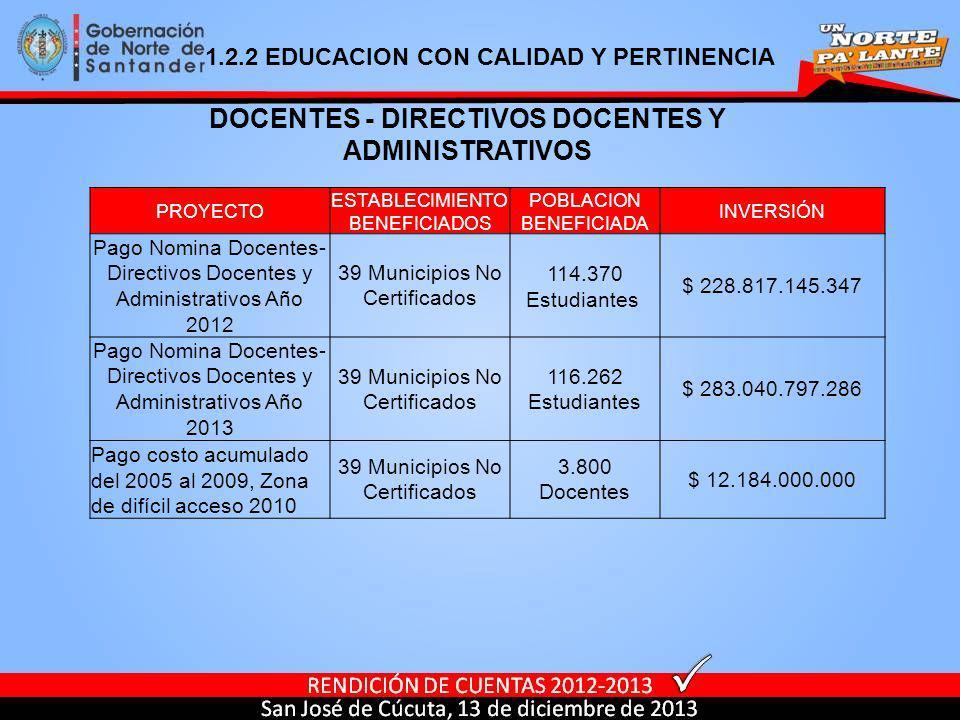 DOCENTES - DIRECTIVOS DOCENTES Y ADMINISTRATIVOS