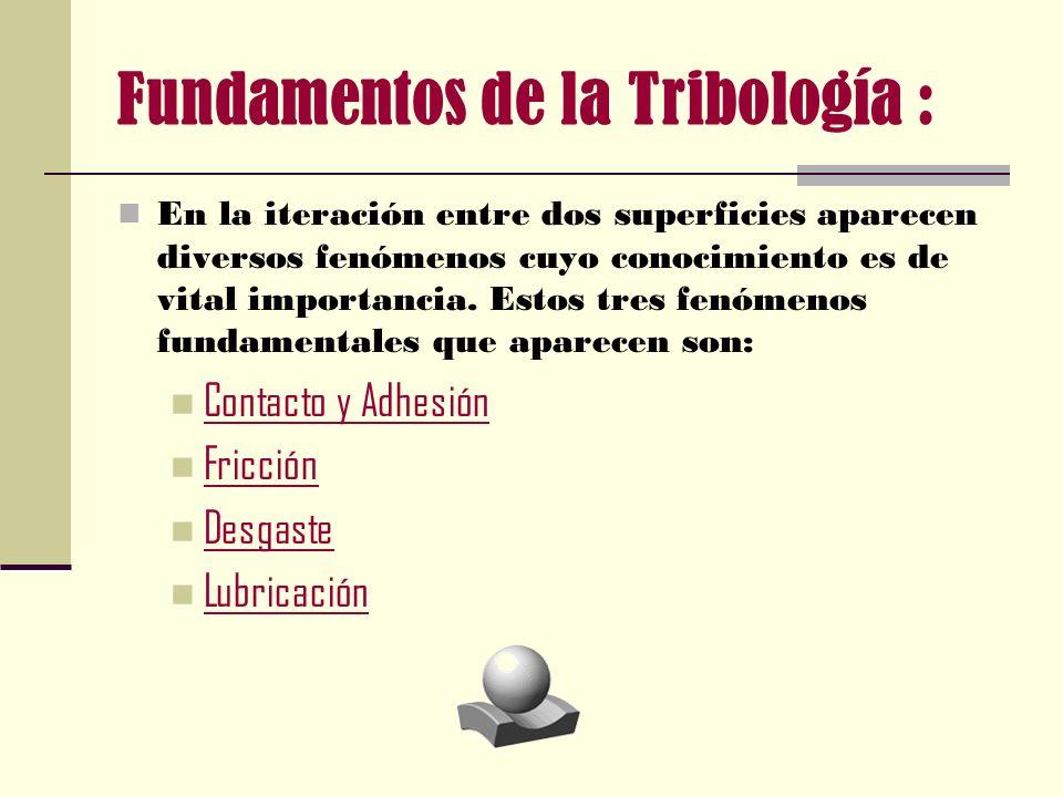 Fundamentos de la Tribología :