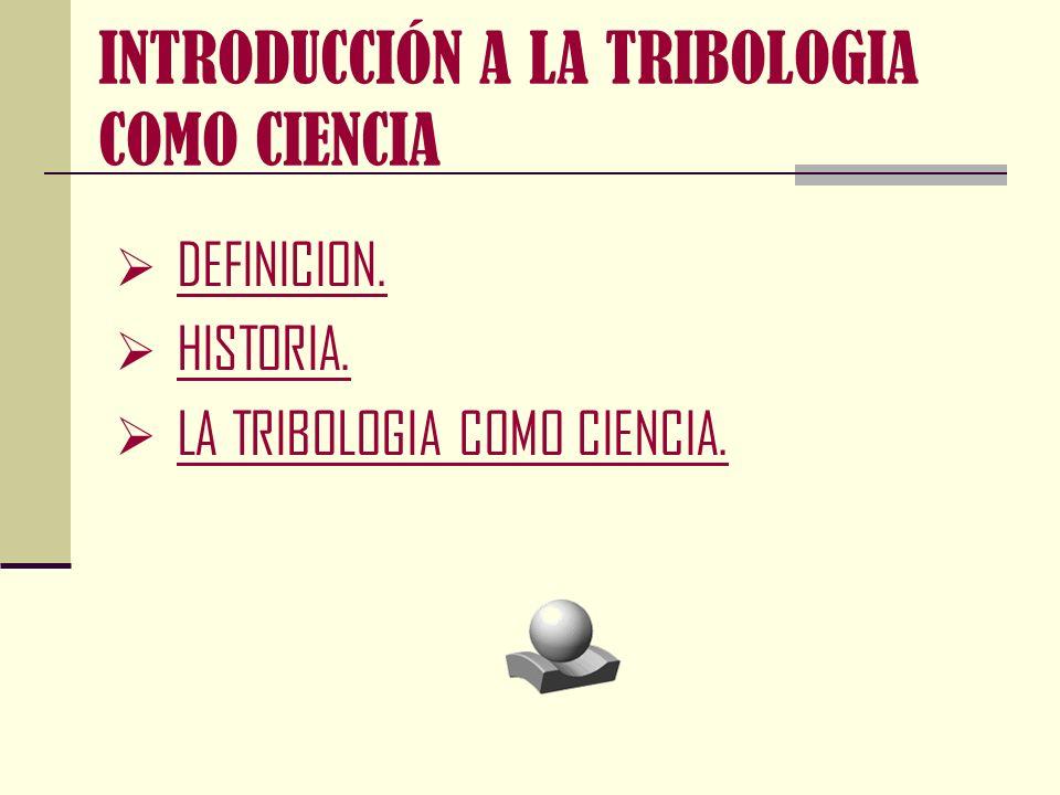 INTRODUCCIÓN A LA TRIBOLOGIA COMO CIENCIA