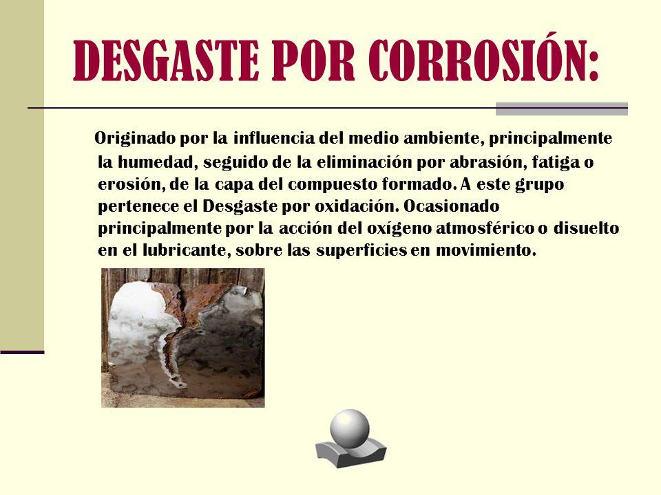 DESGASTE POR CORROSIÓN:
