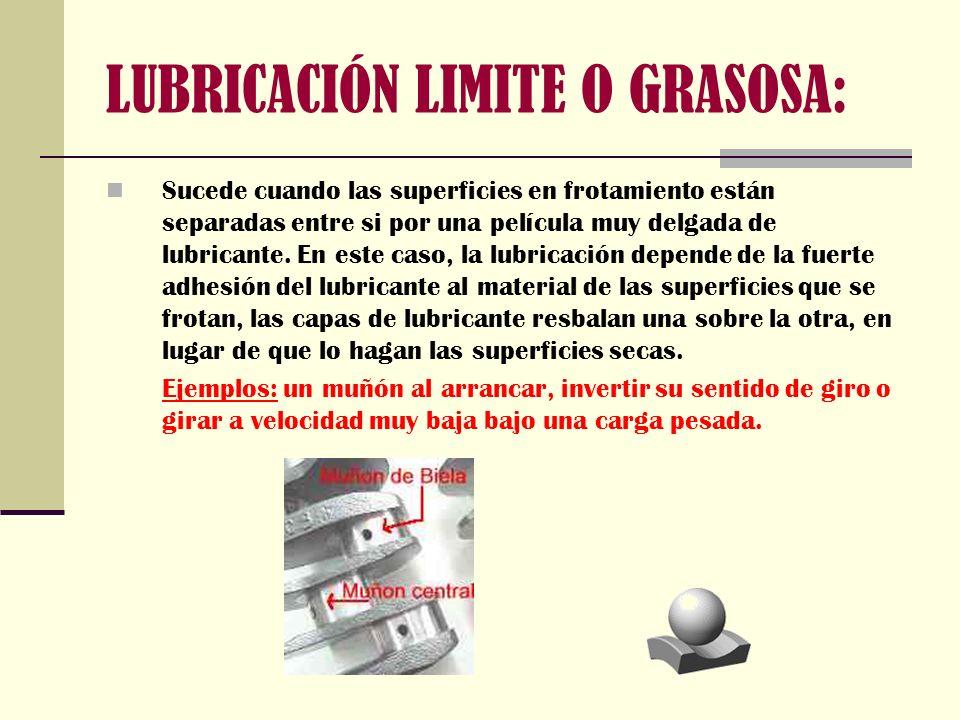 LUBRICACIÓN LIMITE O GRASOSA: