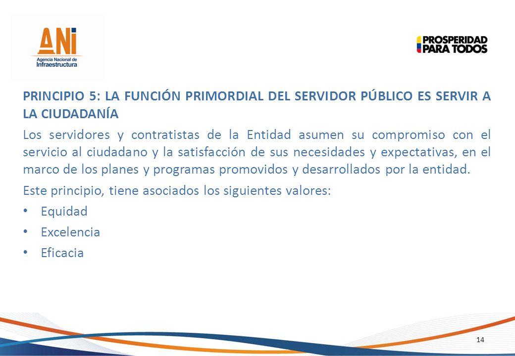 Principio 5: La Función Primordial del Servidor Público es Servir a la Ciudadanía