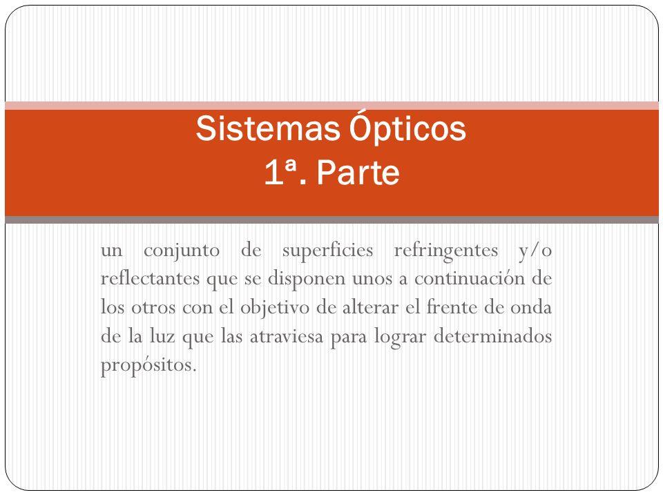Sistemas Ópticos 1ª. Parte