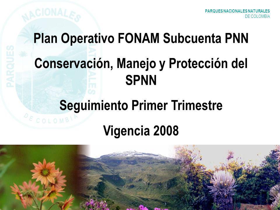 Plan Operativo FONAM Subcuenta PNN