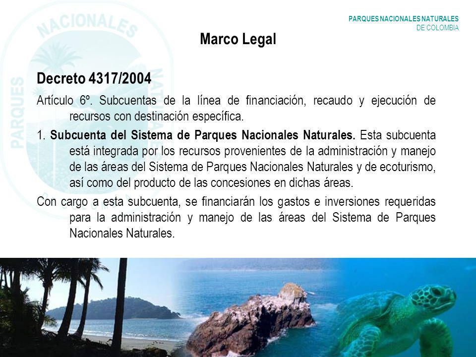 Marco Legal Decreto 4317/2004. Artículo 6º. Subcuentas de la línea de financiación, recaudo y ejecución de recursos con destinación específica.