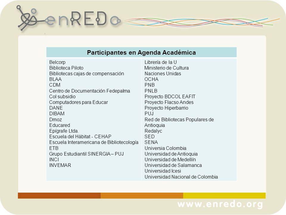 Participantes en Agenda Académica