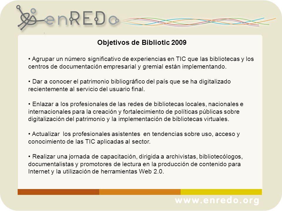 Objetivos de Bibliotic 2009