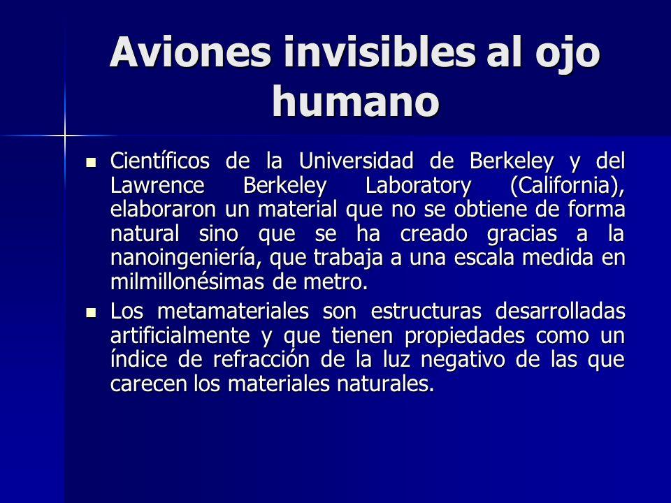 Aviones invisibles al ojo humano