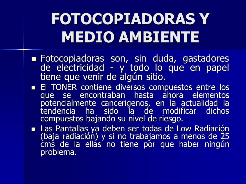 FOTOCOPIADORAS Y MEDIO AMBIENTE