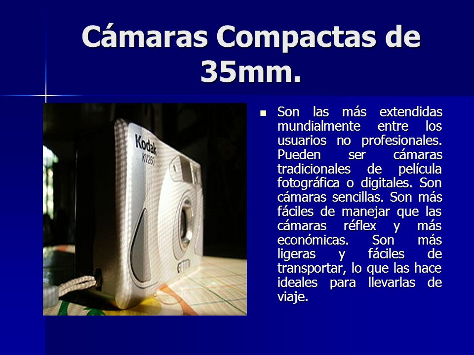 Cámaras Compactas de 35mm.