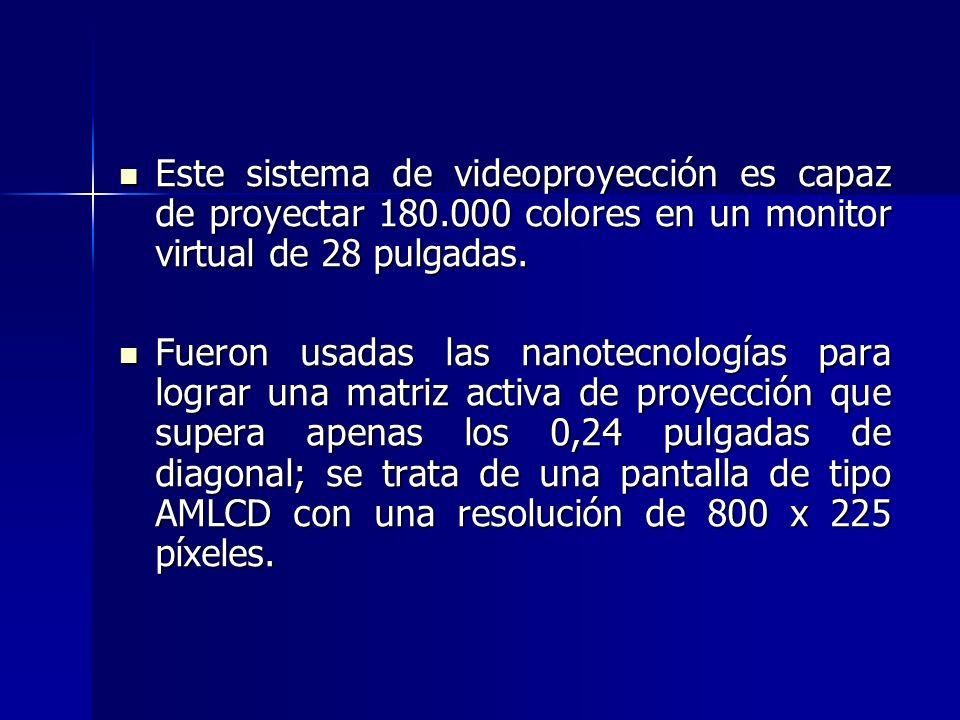 Este sistema de videoproyección es capaz de proyectar 180