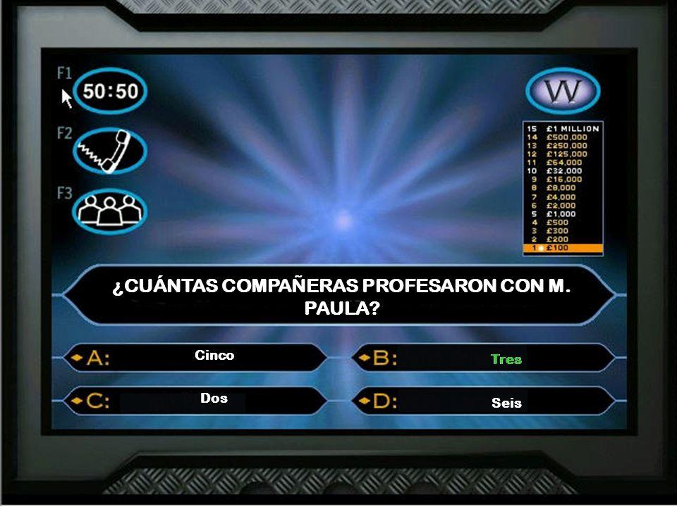 ¿CUÁNTAS COMPAÑERAS PROFESARON CON M. PAULA