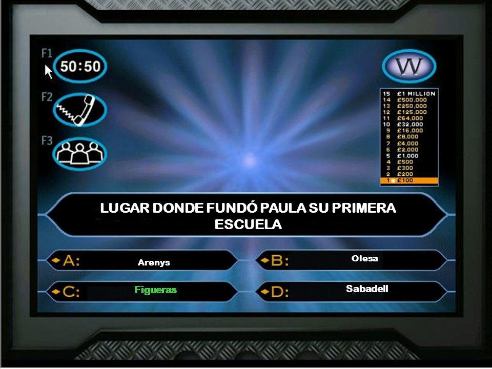 LUGAR DONDE FUNDÓ PAULA SU PRIMERA ESCUELA