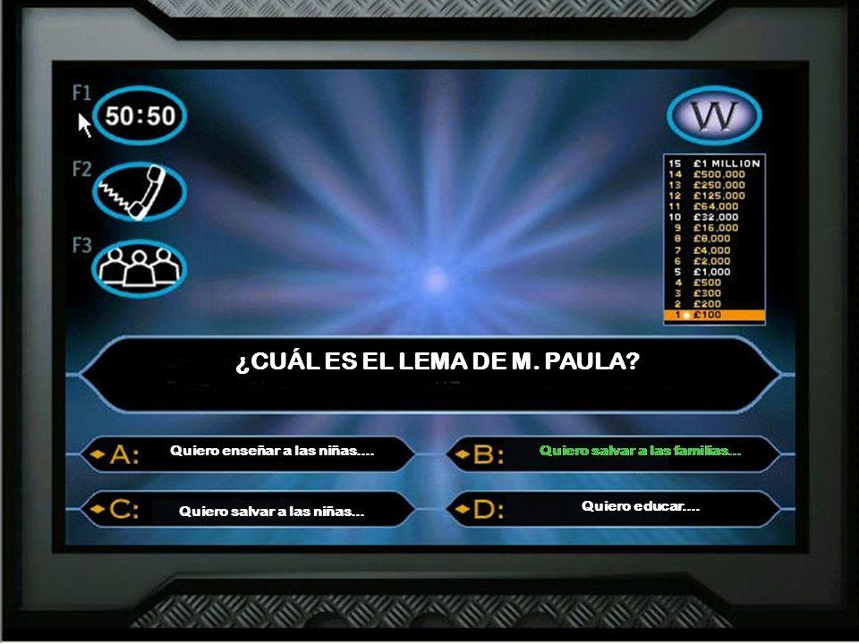 ¿CUÁL ES EL LEMA DE M. PAULA