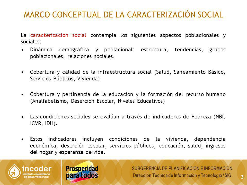 MARCO CONCEPTUAL DE LA CARACTERIZACIÓN SOCIAL