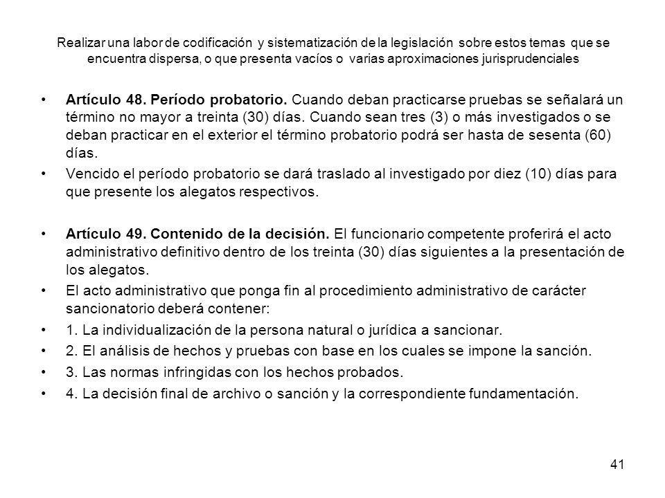 1. La individualización de la persona natural o jurídica a sancionar.