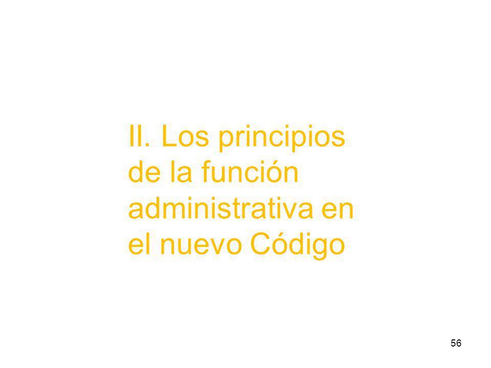 II. Los principios de la función administrativa en el nuevo Código