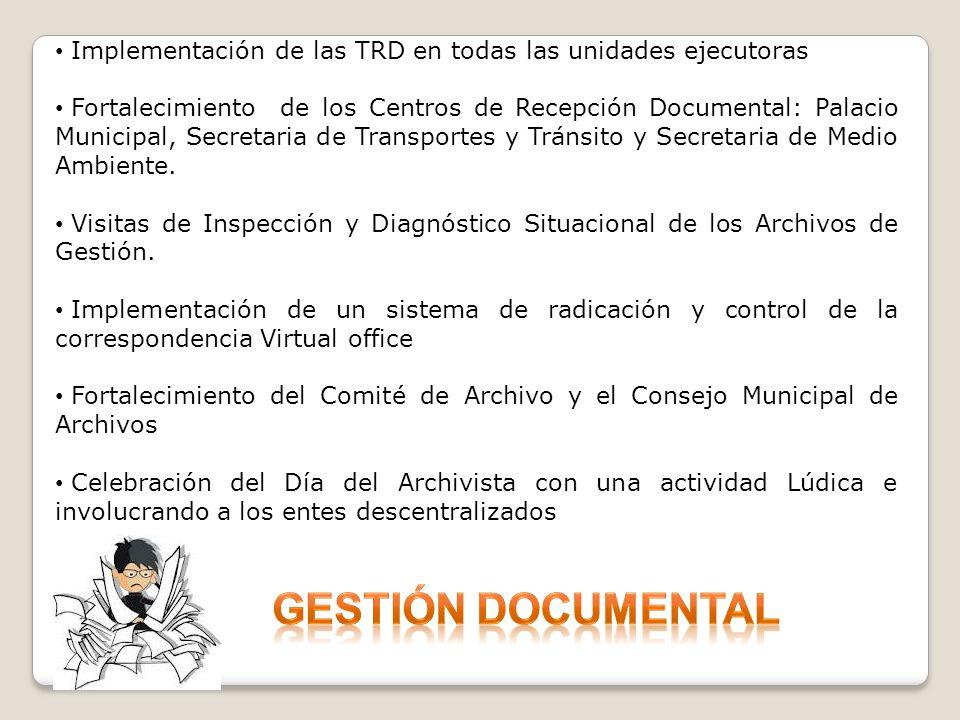 Implementación de las TRD en todas las unidades ejecutoras