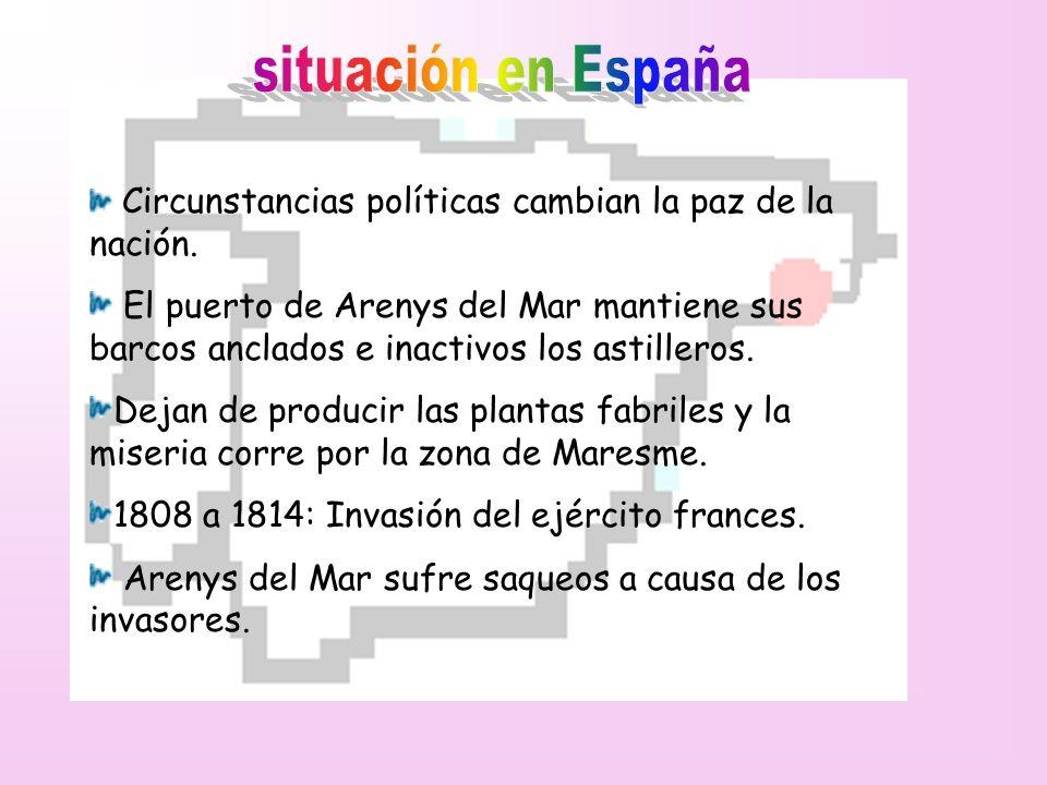 situación en España Circunstancias políticas cambian la paz de la nación.