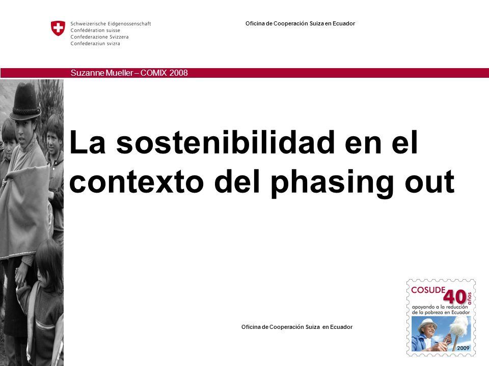 La sostenibilidad en el contexto del phasing out