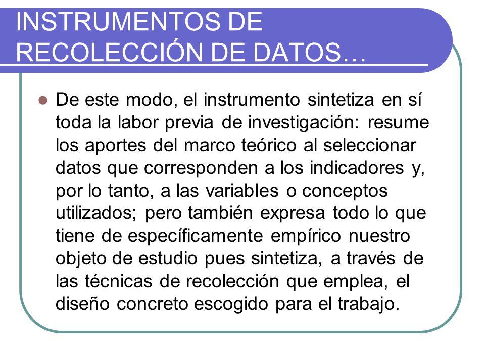 INSTRUMENTOS DE RECOLECCIÓN DE DATOS…