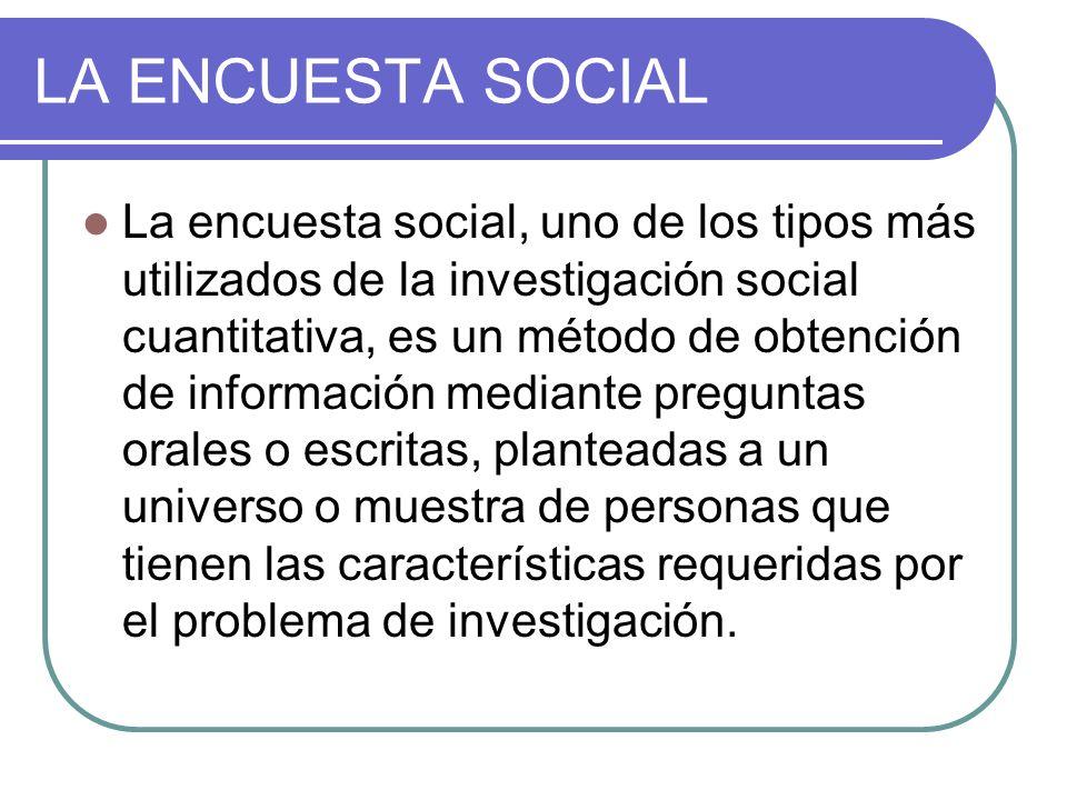 LA ENCUESTA SOCIAL