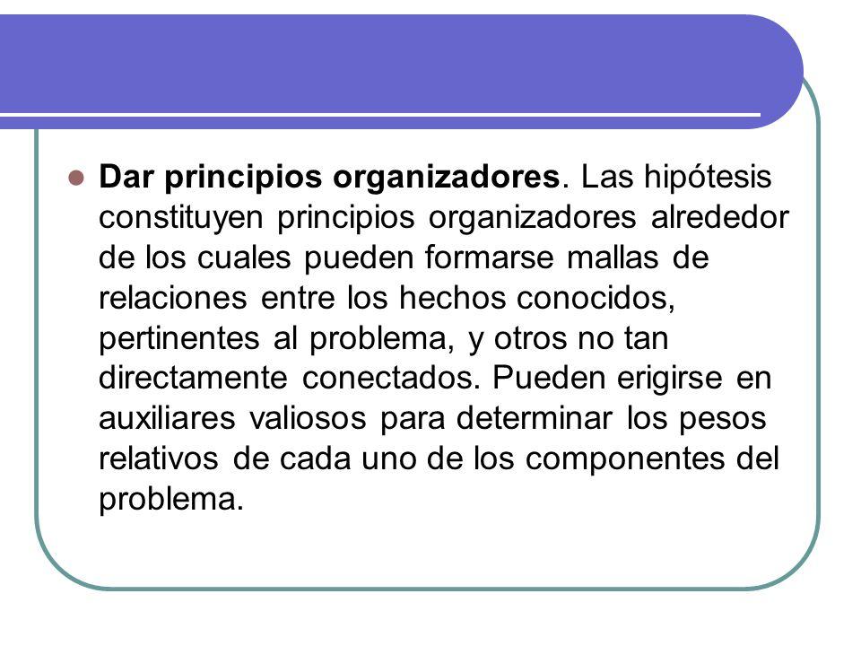 Dar principios organizadores