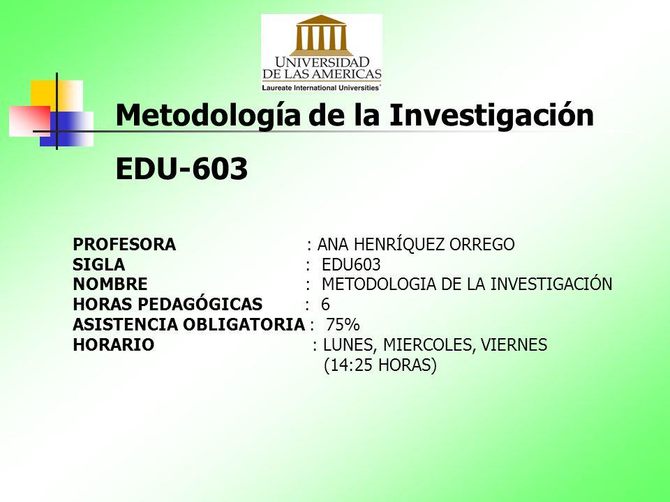 Metodología de la Investigación EDU-603