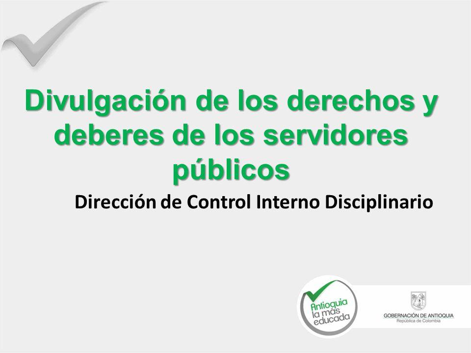 Divulgación de los derechos y deberes de los servidores públicos