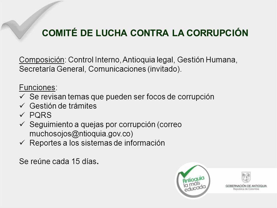 COMITÉ DE LUCHA CONTRA LA CORRUPCIÓN