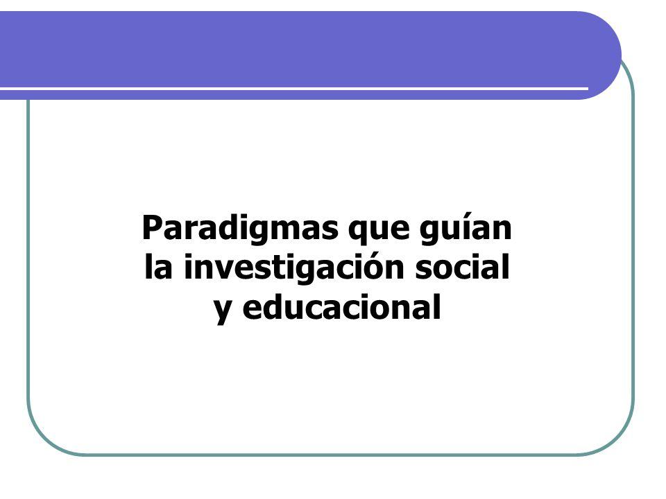 Paradigmas que guían la investigación social y educacional
