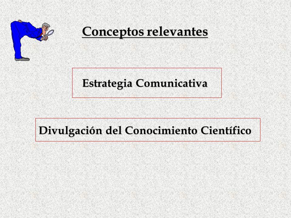 Conceptos relevantes Estrategia Comunicativa