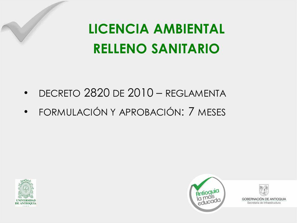 licencia ambiental relleno sanitario